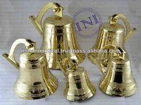 Brass Nautical Ship Bells Group, Nautical Antique Brass Ship Bell, Smart Marine Ship Bell