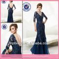 Wg1223 Sexy marinha mãe azul dos vestidos de noiva lace com mangas fotos livres