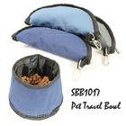 Folding Nylon Dog Travel Bowls & Pet Feeder
