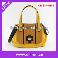 classic retro women pu cheap handbag patent
