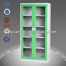 muebles de metal 2 de vidrio de la puerta del gabinete de presentación utilizado