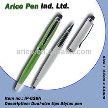 Metal dual size stylus touch pen