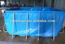 new wholesale Family Rectangular bracket frame pool / above ground swimming pool / PVC intex swimming pool