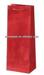 wine packaging bag&red wine paper bag&red bag