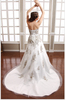 Brilliant!!! Zhongshan Naposa Exquisite Decorated High Class Diamond Bridal Wedding Dress ready made wedding dress