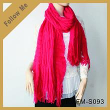 women latest print acrylic scarf shawl pashmina with fringes
