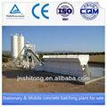 Hls90 90m3/h iso9001 ce certificado de hormigón planta de mezcla caliente de la venta de hormigón planta de hormigón