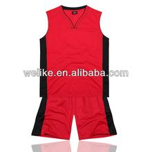 Red and black basketball uniform blank jersey basketball design custom high school basketball jerseys