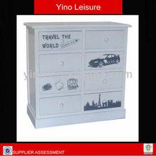 2014 Best Design wooden drawer cabinet children bedroom furniture cabinets Vintage Design Wooden Chest of Drawers FT0091
