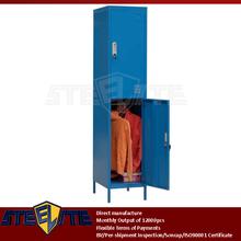 moisture-resistant indigo two door ikea steel locker cabinet / vertical slim waterproof 2 door metal locker with hanging rod