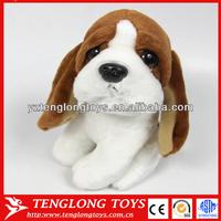 Soft stuffed dog toy plush funny dog with big eyes