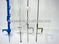 Cerca eléctrica paso-en la coleta la banda de rodadura- en plástico poste de metal