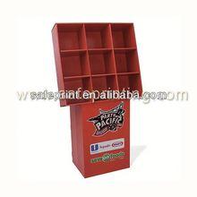 collapsible cardboard paper flooring laminate plate display racks wooden