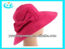 stylish girls straw sun hat with bowknot