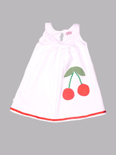Fashion Girls DRESS 2014 spring and summer / appliqued toddler and girls dress cotton skirt % 100 cotton Turkey made