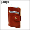 New popular leather wallet mobile phone case with card holder pocket
