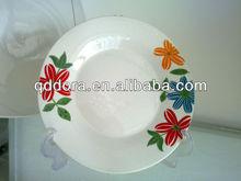 design ceramic dish printing,round ceramic dishes,blue ceramic dishes