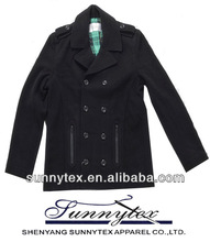 2014 sunnytex fashion branded apparel WOOL COAT