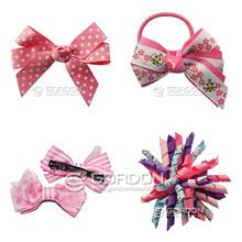 pink girl hair accesories