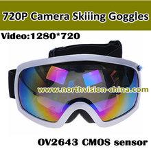 720P HD ski goggle camera, 5.0M, Colorful double anti-fog Lens, support TF card Max 32GB