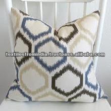 indian cotton Ikat fabric sofa