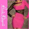 Latest cheap pink girls sexy nighty dress
