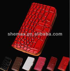 High Quality Crocodile Leather Flip Case For Sony Ericsson Xperia X10