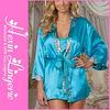 Wholesale sexy women blue long night dress gown