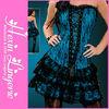 High fashion new arrived lace blue sexy corset tutu dress
