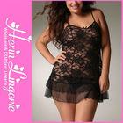 2013 small quantity black plus size v-neck fat women lingerie