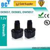 China supplier Replacement Power Tool Battery for Dewalt 7.2V DE9057 DE9085 DW9057