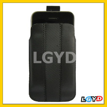 High quality Leather mobile phone Case with Pull Tab for iPhone 4/ 3G/ 3GS and Other Similar Size Mobile Phones