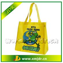 Wholesale Cheap Reusable Yellow Non Woven Shopping Bag