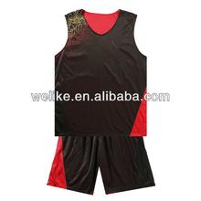 Black and red basketball uniform custom high school basketball shirt wholesale reversible basketball jerseys