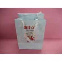Custom design cute pink printed paper shopping gift bags with personalized logo