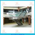 diritta di acciaio scale di vetro progettazione scala in ferro battuto scala