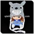 Pronto para enviar! Feitas à mão animais dos desenhos animados caráter totoro crochet chapéus