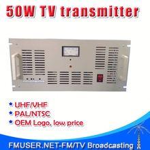 FMUSER FM-50T 50W Analog TV active video transmitter UHF/VHF PAL/NTSC-RC5