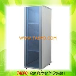 Front glass door rear steel door free standing 42U server rack