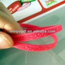 Printing Silicon Wristband engrave thin wristband