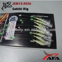 2014 Eight hooks Flasher and Fishskin Sabiki Rig
