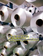 Polyester Filament DTY yarn 150D 36f Raw white Circular