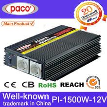 PWM must power inverter 12v 1500watt for 110v/120v/220v/230vac with over 20-year produce experience