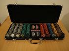 500pcs custom Poker Chip Set in high quality leather case set