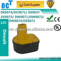 Power Tool Battery For DEWALT 12V 2000mAh NiCd DE9075 DW9071 DW9072 397745-01 DE9061 DE9062 DW9061 DW9062