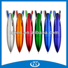 4 Colors in 1 Plastic Rocket Shape Ball Pen for Gift