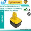 Cordless Drill Battery for Dewalt 12V NI-MH DE9074 DC9071 152250-27, 397745-01