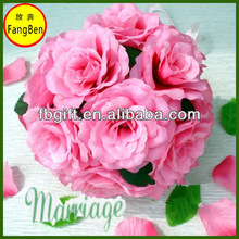 Artificial Silk flower Rose Ball ,Artificial Foam Flower for Wedding Decoration (FB015597)