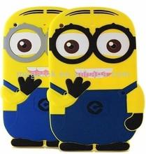 Cute Cartoon Despicable Me 3d silicone minion case for ipad air, for ipad air case silicone