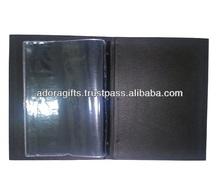 ADAMC - 0025 genuine leather kinds of menu card cover / new style beer menu holder / hotel menu card cover